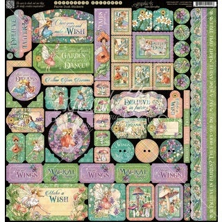 "Fairie Dust Cardstock Stickers 12""X12"""