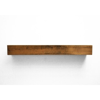 Dogberry Collections Modern Farmhouse Tan Alder Wood Fireplace Mantel Shelf