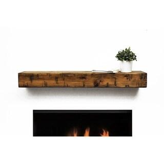 Rustic Fireplace Mantel Shelf - N/A
