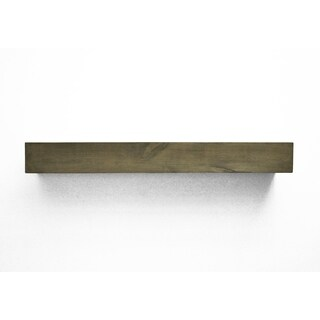 Dogberry Collections Modern Farmhouse Grey Alder Wood Fireplace Mantel Shelf