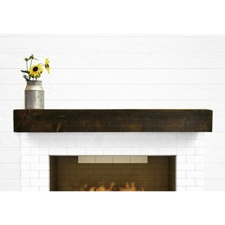 Dogberry Collections Modern Farmhouse Glossy Alder Wood Fireplace Mantel or Floating Shelf