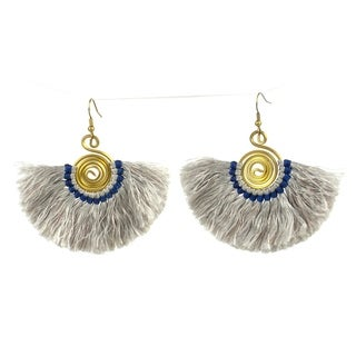 Handmade Flamenco Fringe Earrings - Silver (Nepal)