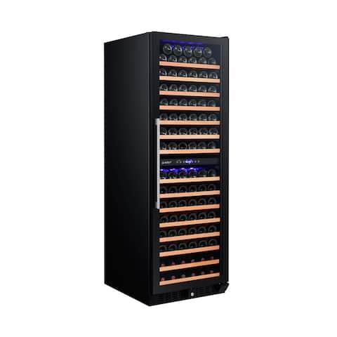 Smith & Hanks 166 Bottle Wine Cooler, Dual Zone, Smoked Glass Door