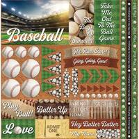 "Baseball 2 Elements Stickers 12""X12"""