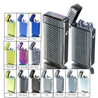 Tac Plasma Lighter - USB Rechargable, Electric Windproof Splashproof Flameless Lighter, Butane Free Tactical Dual Arch