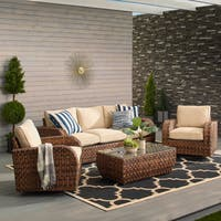 Havenside Home Castle Rock Outdoor 4-piece Swivel Set