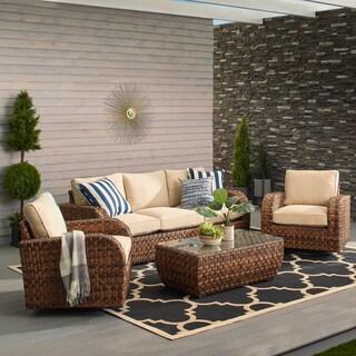 Havenside Home Castle Rock Outdoor 4-piece Swivel Set