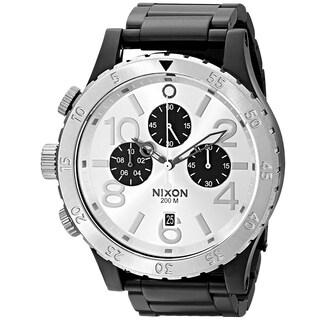 Nixon Men's 48-20 Geo Volt Stainless Steel Chronograph Watch Black - Silver Tone