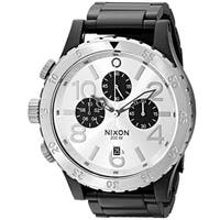Nixon Men's 48-20 Geo Volt Stainless Steel Chronograph Watch Black - Silver Tone
