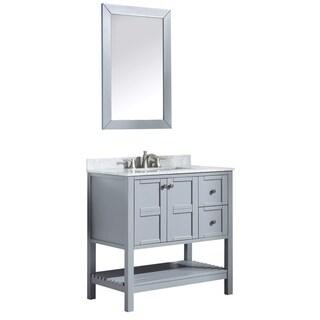 ANZZI Montaigne 36 in. Grey Single Sink Vanity Set