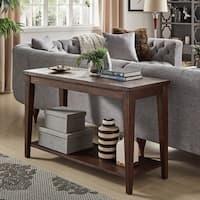 Otis Geometric Wood Sofa Table by iNSPIRE Q Artisan