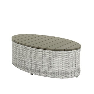 CorLiving Brisbane Weather Resistant Oval Patio Coffee Table