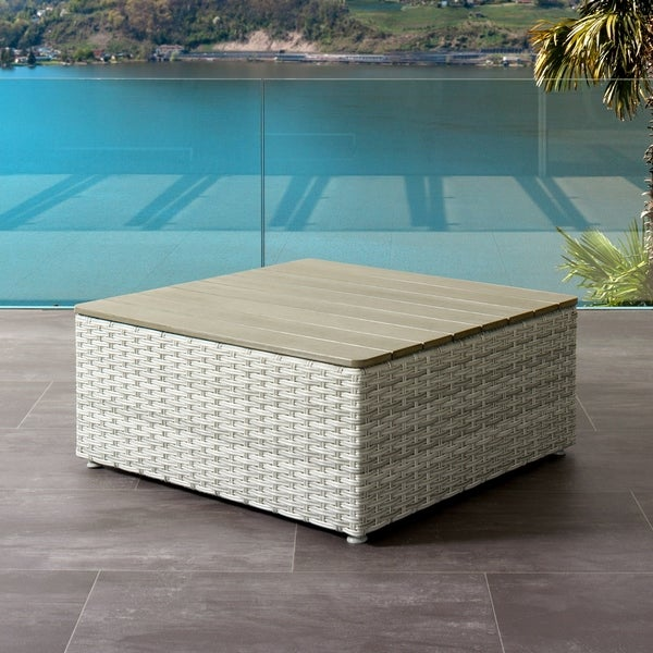 Square Coffee Table Brisbane: Shop CorLiving Brisbane Weather Resistant Square Patio