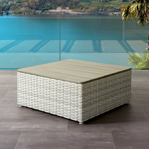 CorLiving Brisbane Weather Resistant Square Patio Coffee Table