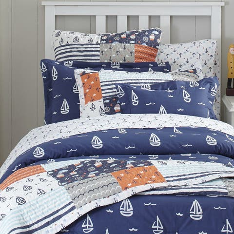Lullaby Bedding Away at Sea Printed 4-piece Comforter Set