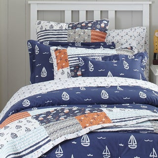 Lullaby Bedding Away at Sea Printed 4-piece Comforter Set