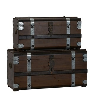 Steel Band Trunk, Set of 2