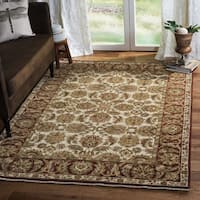 Safavieh Couture Hand-Knotted Old World Vintage Ivory / Rust Wool Rug - 12' x 18'