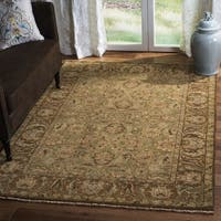 Safavieh Couture Hand-Knotted Old World Vintage Light Green / Gold Wool Rug - 12' x 15'