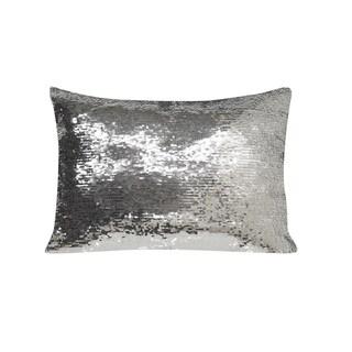 Simon Chang Sequin Lumbar Decorative Throw Pillow