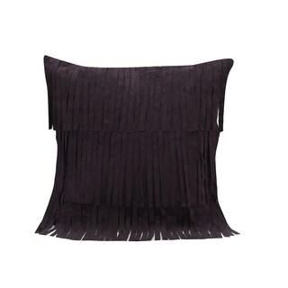 Simon Chang Purple Fringe Decorative Throw Pillow