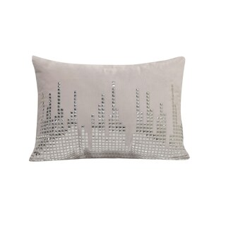 Simon Chang Studded Lumbar Decorative Throw Pillow