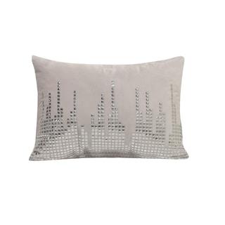 Simon Chang Studded Lumbar Decorative Throw Pillow