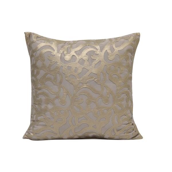 Simon Chang Mesh Appliqué Decorative Throw Pillow
