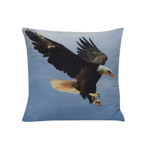 Eagle Floor Throw Pillow