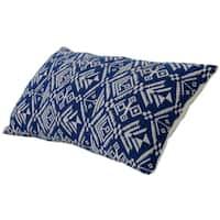 Varaluz Casa Blue Tribal Lumbar Throw Pillow