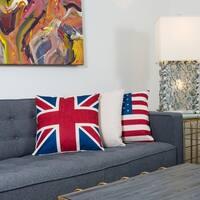 Varaluz Casa Red/White/Blue Union Jack Square Throw Pillow