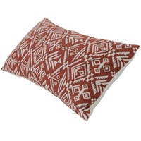 Varaluz Casa Red Tribal Lumbar Throw Pillow