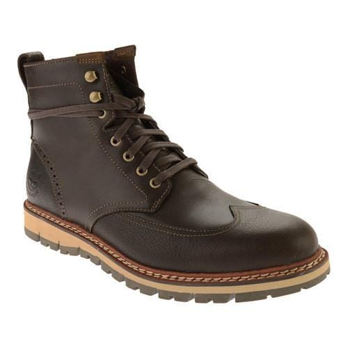 5015cebe3903 Shop Men s Timberland Earthkeepers Britton Hill Wing Tip Boot WP Dark Brown  Smooth - Free Shipping Today - Overstock - 17670275