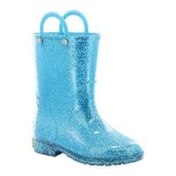 Girls' Western Chief Glitter Rain Boot Turquoise
