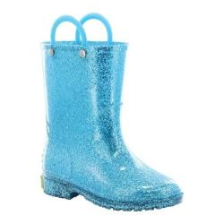 Girls' Western Chief Glitter Rain Boot Turquoise