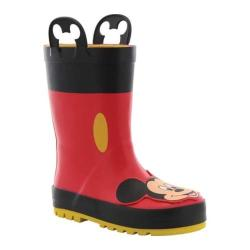 Children's Western Chief Mickey Mouse Rain Boot Red