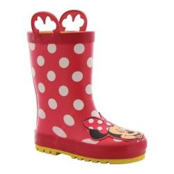 Girls' Western Chief Minnie Mouse Rain Boot Red