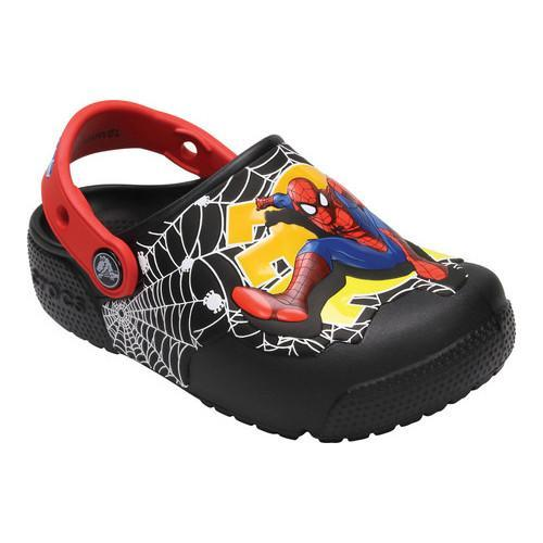 747e0dddc6a381 Shop Boys  Crocs CrocsFunLab Lights Spiderman Clog Juniors Black - Free  Shipping On Orders Over  45 - Overstock.com - 17682433