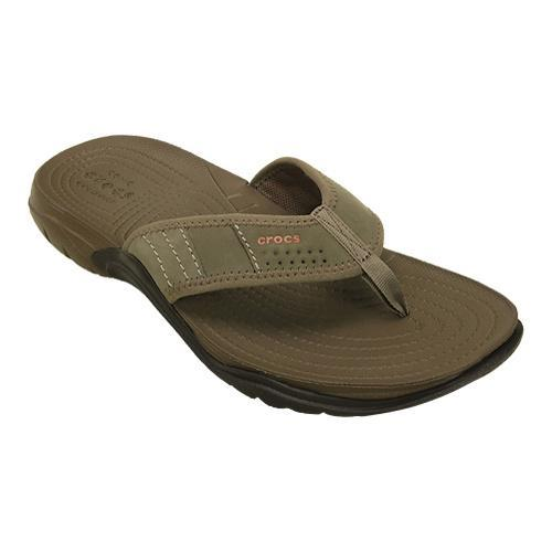 Mens Crocs Swiftwater Flip Flop Sandal WalnutEspresso