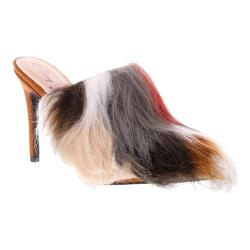 Women's Penny Loves Kenny Mojo Fur Mule Tan Microsuede/Multi Faux Fur