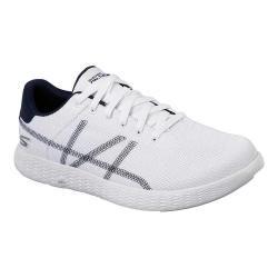 Men's Skechers On the GO Glide Aces Sneaker White/Navy