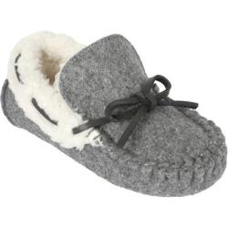 Children's Stride Rite Gabriel Wool Cozy Moccasin Slipper Gray