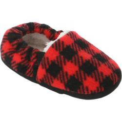 Boys' Stride Rite Hunter Buffalo Plaid A Line Slipper Red