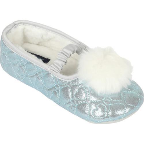 1b66208004e Shop Girls  Stride Rite Penelope Pom Pom Ballet Slipper Turquoise - Free  Shipping On Orders Over  45 - Overstock - 17682548