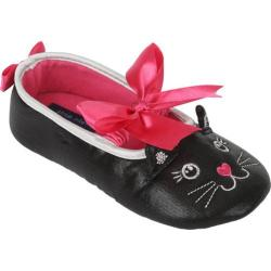 Girls' Stride Rite Stella Sparkle Kitty Ballet Slipper Black