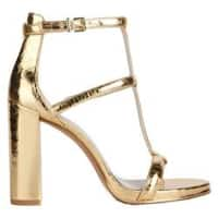 Women's Kenneth Cole New York Deandra T Strap Sandal Gold Synthetic