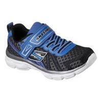 Boys' Skechers Advance Adjustable Strap Sneaker Black/Royal