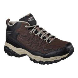 Men's Skechers After Burn Memory Fit Geardo High Top Trainer Brown/Black