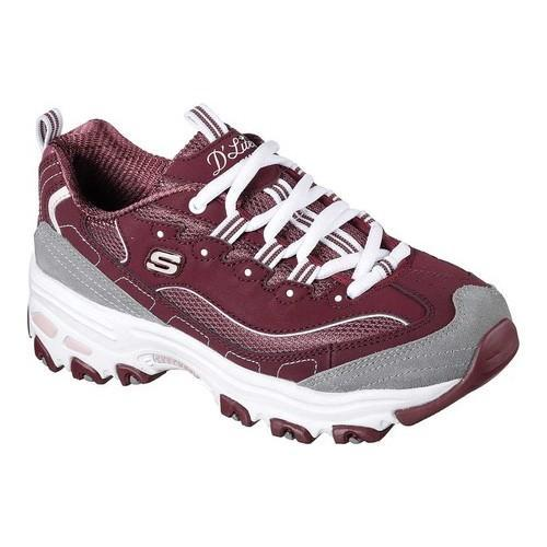 Shop Women s Skechers D Lites New Journey Sneaker Burgundy - Free Shipping  Today - Overstock - 17669620 df0f1019f