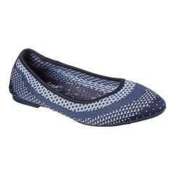 Women's Skechers Cleo Hot Dot Ballet Flat Navy